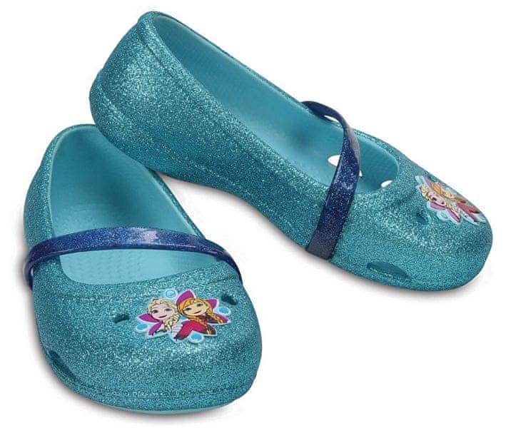 f004104d400 Crocs Dětské baleríny Crocs Lina Frozen Flat Ice Blue 204454-4O9 (Velikost  23-