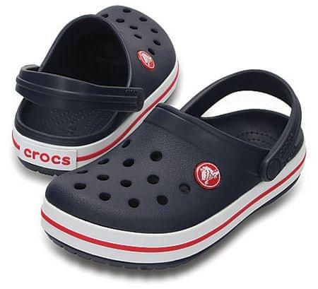 4ef52a59663 Crocs Dětské pantofle Crocband Clog Navy Red 204537-485 (Velikost 23 ...