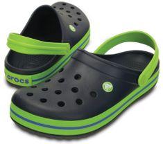 Crocs Dětské pantofle Crocband Clog Navy Volt Green 204537-4K6 4bba366b09
