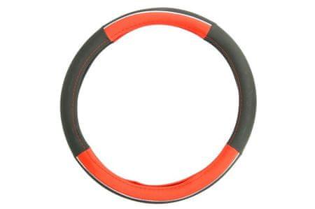 MAMMOOTH Potah na volant Spa, 100% PVC, 36,5 - 38 cm, doplňková vložka imitující chrom, červený
