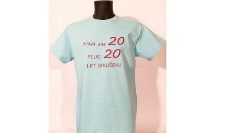 Gildan vezena majica Izkušnje 40, M