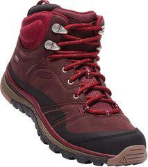KEEN Dámské kožené boty Terradora Leather Mid Wp Wine/Rododedron