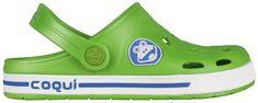 Coqui Detské šľapky Froggy 8801 Lime/White 101966