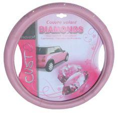 MAMMOOTH Potah na volant Pink Diamond, 100% PVC, 36,5 - 38 cm, růžový