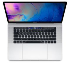 Apple prenosnik MacBook Pro 15 Touch Bar/i7 2,2GHz/16GB/SSD256GB/RadeonPro555X/macOS, Silver - INT KB