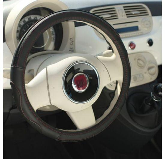 MAMMOOTH Poťah na volant Premium, prírodná koža, 36,5 - 38 cm, grafitová