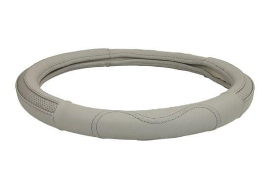 MAMMOOTH Poťah na volant Chrome, prírodná koža, 36,5 - 38 cm, šedá