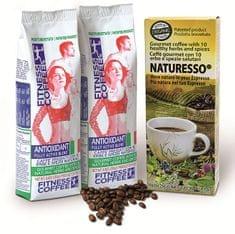 Monvitaly Dárkový balíček Fitness Coffee 2 x 250 g + Naturesso s bylinami 250 g
