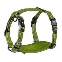 Alcott Reflexní postroj pro psy, zelená M
