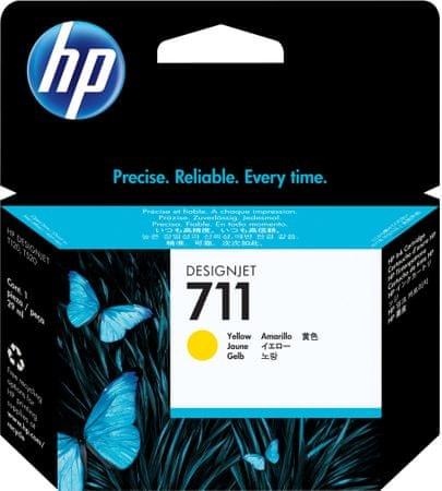 HP kartuša Designjet 711, rumena, 29 ml