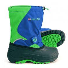 Trollkids Chlapecké sněhule Telemark - modro-zelená