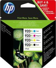 HP 920XL štvorbalenie originálnych atramentových kaziet s vysokou výťažnosťou C2N92AE)