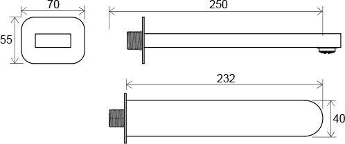Ravak CR 027.00 Výtokové rameno do vany