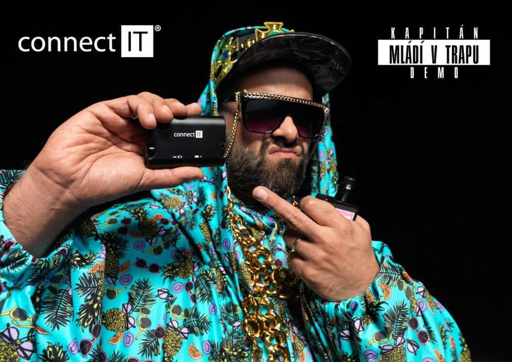 Connect IT True Wireless bezdrátová sluchátka, černá - použité