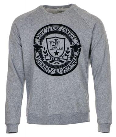Pepe Jeans muški pulover Gaby, M, sivi