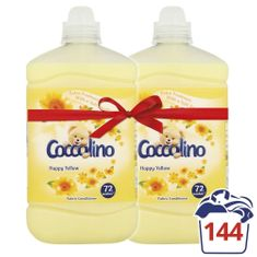 Coccolino mehčalec za perilo Happy Yellow, 2 x 1,8 l