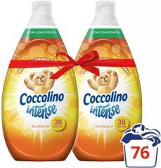 Coccolino Intense Sunburst aviváž 2 x 570 ml (76 praní)