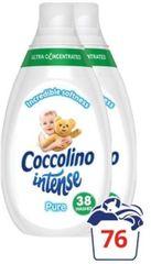 Coccolino Intense Pure öblítő 2 x 570 ml (76 mosás)