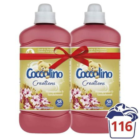 Coccolino omekšivač Creations Honeysuckle & Sandalwood, 2 x 1,45 l