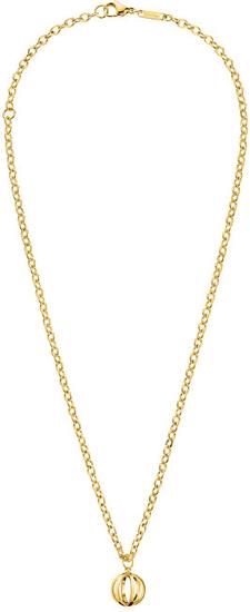 Calvin Klein Pozlačena jeklena ogrlica Show KJ4XJN100300
