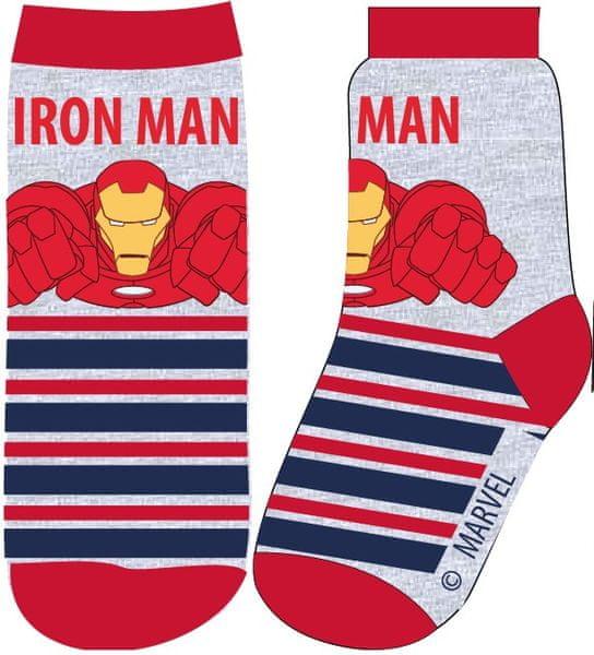 E plus M chlapecké ponožky Iron Man 27 - 30 šedá/červená