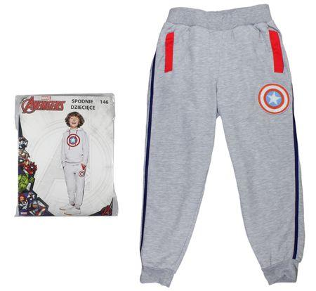 E plus M Chłopięce spodnie dresowe Capitan America 134 szary