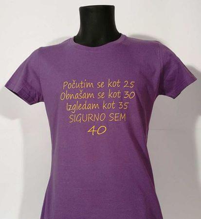 Gildan vezena telirana majica Sigurno 40, M