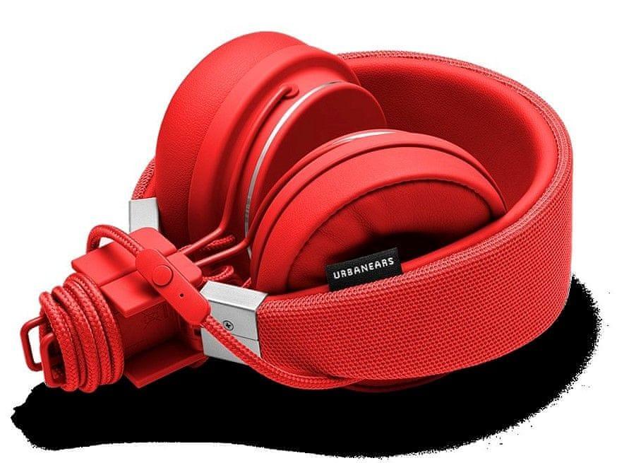 Urbanears Plattan II sluchátka s mikrofonem, červená