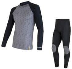 Sensor zestaw dziecięcy: koszulka i spodnie Flow 110 czarny/szary
