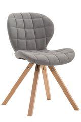 BHM Germany Jídelní čalouněná židle Tryk textil, přírodní nohy