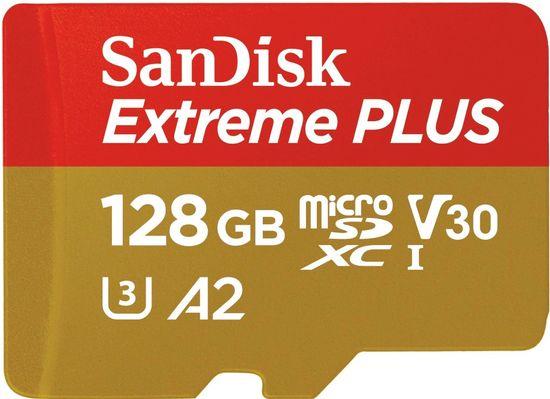 SanDisk Extreme Plus Micro SDXC 128GB A2 C10 V30 UHS-I U3 + adaptér (SDSQXBZ-128G-GN6MA)