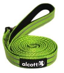 Alcott Nylonové vodítko s reflexnými prvkami zelené 180 cm zelená L