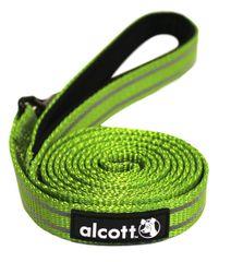 Alcott Reflexní vodítko pro psy, zelené vel. M