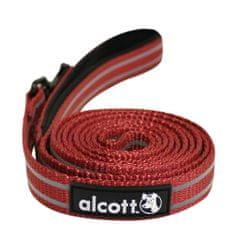 Alcott Reflexní vodítko pro psy, červené vel. M