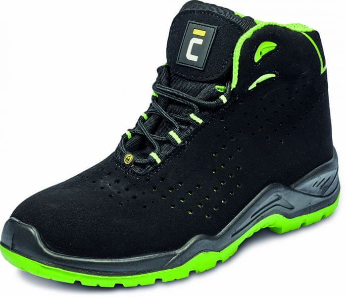 Červa HALWILL S1P kotníková obuv černá 43 3c2c8975d52