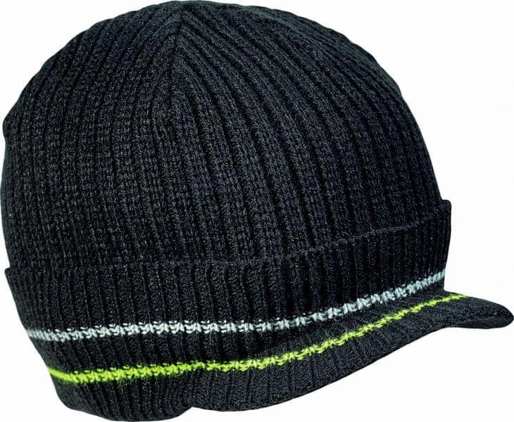 Červa KNOXFIELD čepice černá/žlutá M/L