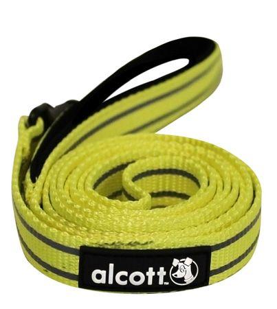 Alcott najlon povodec z odsevnimi elementi, rumen,S