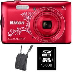Nikon fotoaparat Coolpix A300 + SD 16GB + KATA DL-ZP4