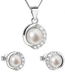 Evolution Group Luxusní stříbrná souprava s pravými perlami Pavona 29022.1 stříbro 925/1000