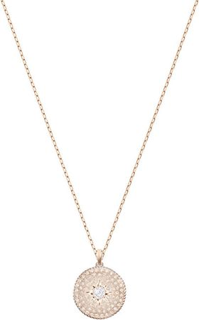 Swarovski Brązowy naszyjnik z medalionem LOCKET 5374560