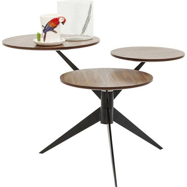 KARE Konferenční stolek Bonsai Tre Walnut