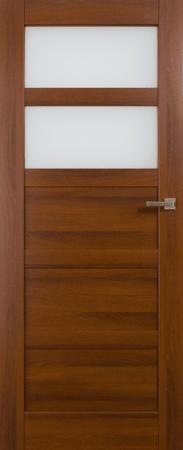 VASCO DOORS Interiérové dveře BRAGA kombinované, model 3, Merbau, D