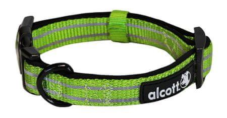 Alcott Reflexní obojek pro psy zelený vel. L
