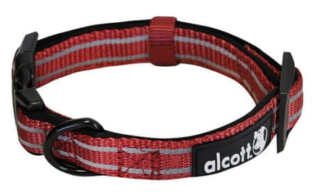 Alcott najlon ovratnica z odsevnimi elementi, rdeča, S