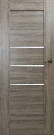 VASCO DOORS Interiérové dveře IBIZA kombinované, model 4, Merbau, A