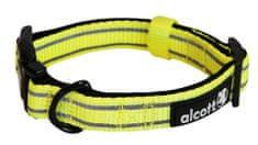 Alcott Nylonový obojok s reflexnými prvkami žltý