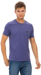 Lacné pánske značkové tričká námorná modrá  f9c8d613238