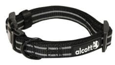Alcott Reflexní obojek pro psy černý