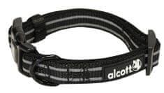Alcott Reflexní obojek pro psy černý, vel. L