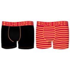 Freegun deške boksarice, 2x, črna+rdeče črte